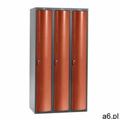 Szafa szatniowa CURVE, 3 moduły, 3 drzwi, 1740x900x550 mm, czerwony, 1311152 - ogłoszenia A6.pl