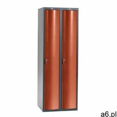 Szafa szatniowa curve, 2 moduły, 2 drzwi, 1740x600x550 mm, czerwony marki Aj produkty - ogłoszenia A6.pl