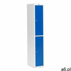 Szafa ubraniowa COACH, 300 mm, 2 drzwi, szary, niebieski - ogłoszenia A6.pl