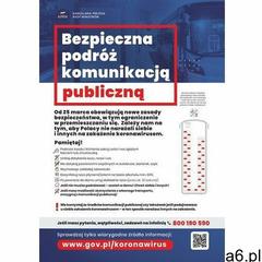 Plakat bezpieczna podróż komunikacją publiczna - ogłoszenia A6.pl