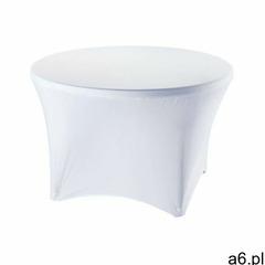 Stalgast Pokrowiec na stół okrągły śr. 115 cm biały - ogłoszenia A6.pl