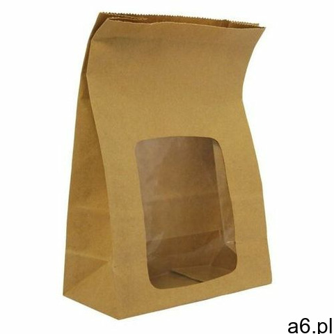 Vegware Kompostowalne, papierowe torby na kanapki z okienkiem natureflex (opakowanie 250 szt.) - 1