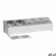 Royal catering ekspozytor na pojemniki gn 1/6 - 5 pojemników gn rcpn 5 - ogłoszenia A6.pl