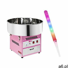 Royal catering zestaw maszyna do waty cukrowej - 52 cm + świecące pałeczki - led - 50 szt. rczk- - ogłoszenia A6.pl