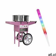 zestaw maszyna do waty cukrowej - 52 cm + świecące pałeczki - led - 100 szt. rczc-1200-w set1 ma - ogłoszenia A6.pl