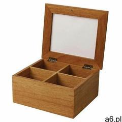 Pudełko na herbatę | 20x16x(h)9cm marki Olympia - ogłoszenia A6.pl