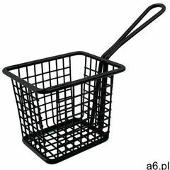 Koszyk na frytki kwadratowy czarny   10x8x(H)8cm - ogłoszenia A6.pl