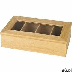 Pudełko ekspozycyjne na herbatę | bez napisu | beżowe | 335x200x(H)90mm - ogłoszenia A6.pl