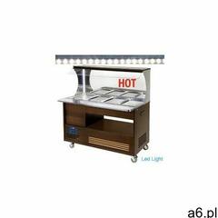 Bufet grzewczy | 4x GN 1/1 150 mm|+ 20 ° + 90 °| drewno wenge - ogłoszenia A6.pl