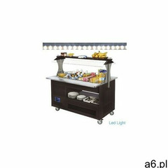 Chłodniczy bar sałatkowy | 4x gn 1/1(h)150mm | drewno wenge | +2° +10° | 500w | 1440x660(950 - ogłoszenia A6.pl
