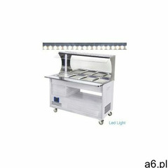 Witryna bufet sałatkowy | 4x GN 1/1 150 mm|+ 2 ° + 10 °| białe drewno - ogłoszenia A6.pl