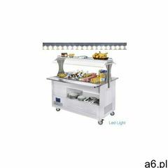 Chłodniczy bar sałatkowy | 4x gn 1/1(h)150mm | białe drewno | +2° +10° | 500w | 1440x660(950 - ogłoszenia A6.pl