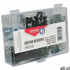 Zestaw biurowy pinezki klipy i spinacze czarny, 18301149-05 - ogłoszenia A6.pl