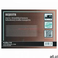 Rejestr mycia i dezynfekcji komory ładunkowej środka transportu [Pu/Sm-116], 47368 - ogłoszenia A6.pl