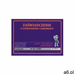 Zaświadczenie o zatrudnieniu i zarobkach A6 [Pu/Os-231], 47267 - ogłoszenia A6.pl