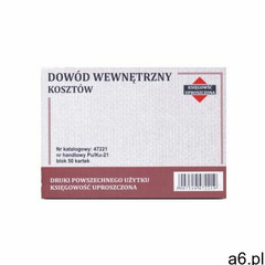 Dowód wewnętrzny kosztów a6 [pu/ku-21] marki Firma krajewski - ogłoszenia A6.pl
