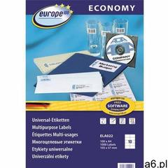 Etykiety a4 by avery economy 105*57mm białe (100), ELA022 - ogłoszenia A6.pl