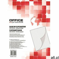Office products Blok flipchart , kratka, 58,5x81cm, 20 kart., biały - ogłoszenia A6.pl