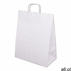 Torba papierowa ECOBAG 500x180x390 - biała - ogłoszenia A6.pl