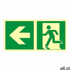 znak kierunek do wyjścia ewakuacyjnego w lewo - ogłoszenia A6.pl
