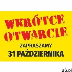 Naklejka wkrótce otwarcie - zapraszamy, wraz z datą - ogłoszenia A6.pl
