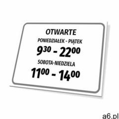 Tabliczka otwarte wraz z godzinami pracy - ogłoszenia A6.pl