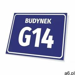 Tabliczka budynek z numerem, literą - ogłoszenia A6.pl