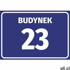 Naklejka budynek z numerem, literą - ogłoszenia A6.pl