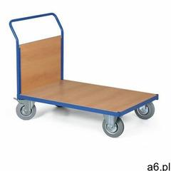 Modułowy wózek platformowy, 1000x700 mm, pełne szare koła, nośność 300 kg marki B2b partner - ogłoszenia A6.pl