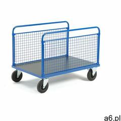 Wózek platformowy transfer, 2 burty z siatki, 1200x800 mm, koła gumowe, bez hamulców marki Aj produk - ogłoszenia A6.pl