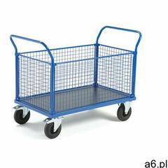 Aj produkty Wózek platformowy transfer, 4 burty z siatki, 1200x800 mm, gumowe koła, z hamulcami - ogłoszenia A6.pl