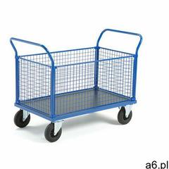 Wózek platformowy transfer, 4 burty z siatki, 1200x800 mm, gumowe koła, bez hamulców marki Aj produk - ogłoszenia A6.pl