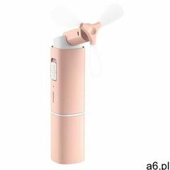 Baseus przenośny mini składany ręczny wiatrak wiatraczek wentylator różowy (CXZD-B04) - ogłoszenia A6.pl