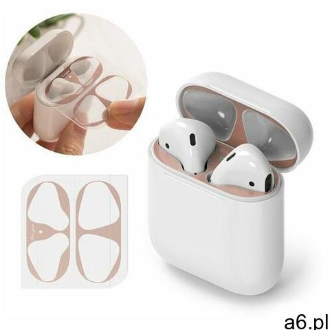2x folia ochronna naklejka osłony przeciw kurzowi do etui bazy słuchawek apple airpods 2 / airpods 1 - 1