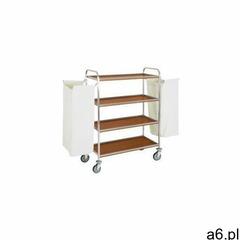 Wózek na pranie   4-półkowy   z 2 workami   stal nierdzewna   810/1200x520x(h)1370mm marki Diamond - ogłoszenia A6.pl
