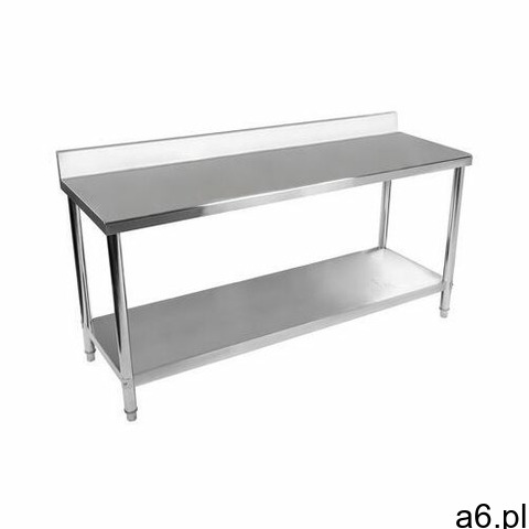 Royal catering stół roboczy - stal nierdzewna - 200 x 60 cm - 195 kg - rant rcwt-200x60sb - 3 lata g - 1