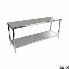 Royal catering stół roboczy - 200 x 60 cm - 160 kg - stal nierdzewna rcwt-200x60e - 3 lata gwarancji - ogłoszenia A6.pl
