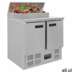Stół chłodniczy do pizzy z nadstawą 3-drzwiowy | 2°C do 8°C | 390L | 8xGN 1/4 | 1370x700x(H)1010mm - ogłoszenia A6.pl