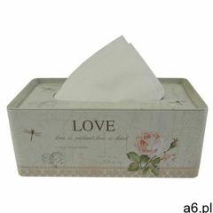 Pojemnik blaszany na chusteczki Love, 21,5 cm (8595571240983) - ogłoszenia A6.pl