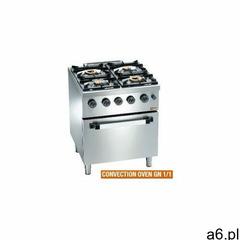 Kuchnia gazowa 4 palnikowa z piekarnikiem el. GN 1/1 | 19000W - ogłoszenia A6.pl