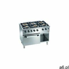 Kuchnia gazowa 6 palnikowa z piekarnikiem gaz. GN 2/1 | 28500W - ogłoszenia A6.pl