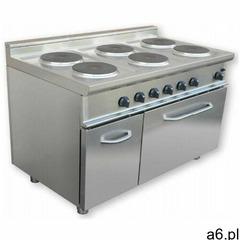 Kuchnia elektryczna 6 płytowa z piekarnikiem el. gn 2/1 | 20700w marki Saro - ogłoszenia A6.pl
