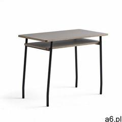 Biurko novus, 1000x500 mm, czarny stelaż, blat szarość gliny marki Aj produkty - ogłoszenia A6.pl