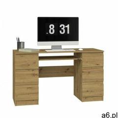 Biurko komputerowe Liner 2X - dąb artisan - ogłoszenia A6.pl