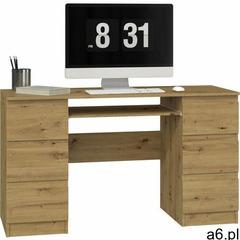 Biurko komputerowe Tuba 6 szuflad / Dąb artisan - ogłoszenia A6.pl