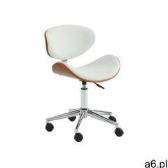 Vente-unique Krzesło biurowe montenegro - regulowana wysokość - ekoskóra - kolor orzechowy i biały - ogłoszenia A6.pl