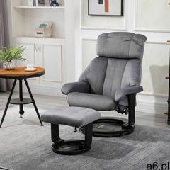 Aosom Fotel relaksacyjny z masażem i hokerem - ogłoszenia A6.pl