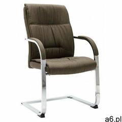 Elior Krzesło biurowe tapicerowane tkaniną w kolorze taupe - lauris 3x - ogłoszenia A6.pl