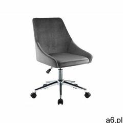 Fotel biurowy masurie - szary welur - regulowana wysokość marki Vente-unique - ogłoszenia A6.pl