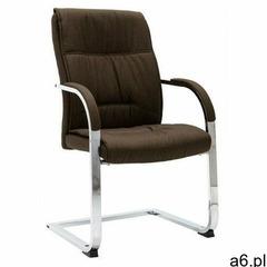 Brązowe tapicerowane krzesło konferencyjne - Lauris 3X - ogłoszenia A6.pl